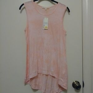 NWT C & C California high- low tank top